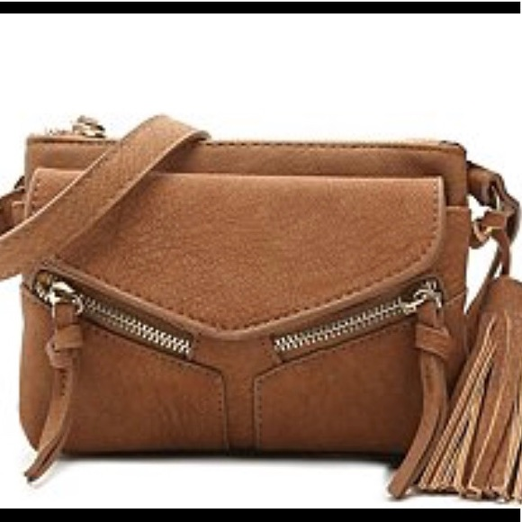 f9883089123f VIOLET RAY Leanna Mini Crossbody in Brown~ NWT